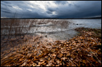 Autumn storm on the lake Lievestuore
